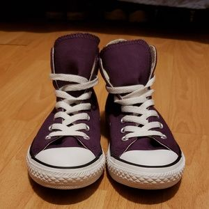 Converse Shoes - purple converse